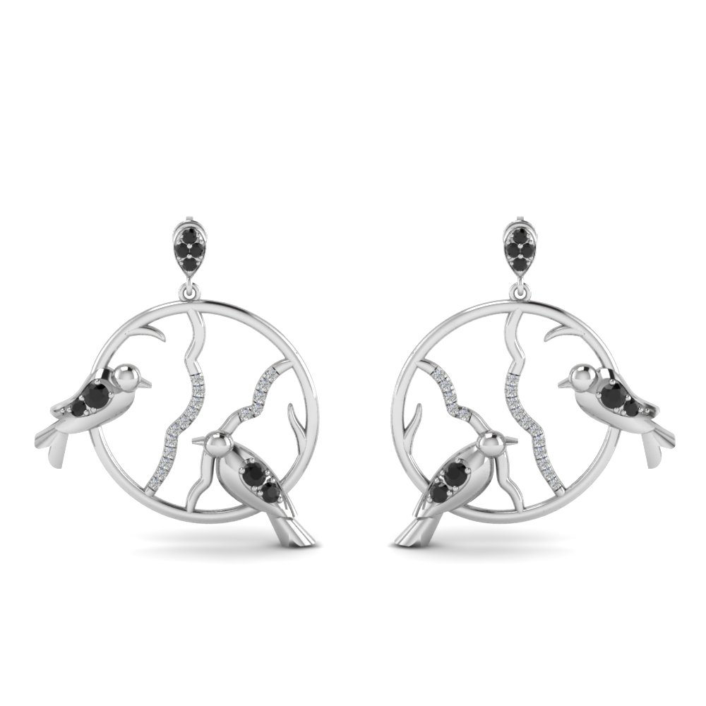 Sterling Silver Bird Drop Earring