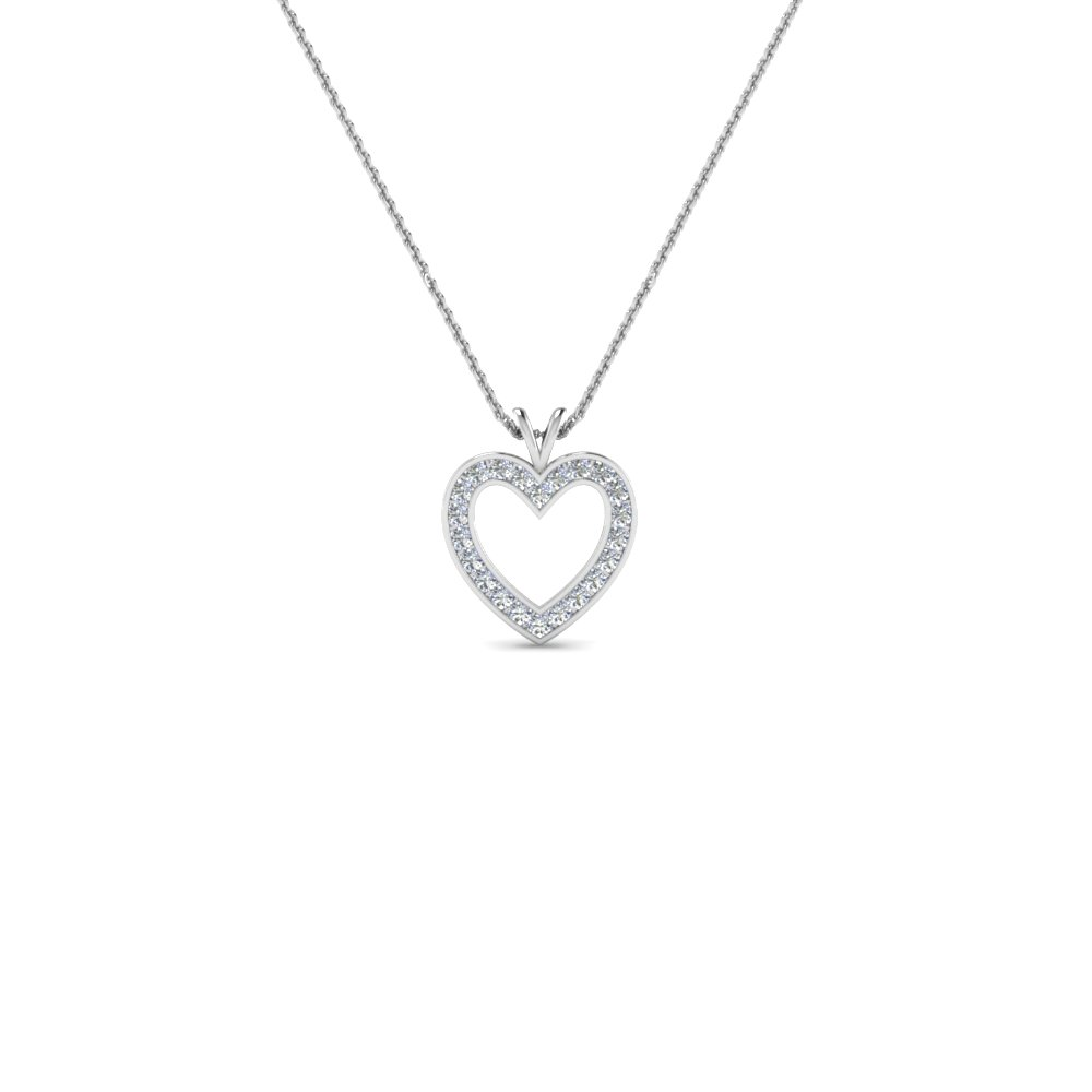 Stunning diamond heart pendant for women in 14k white gold stunning diamond heart pendant for women in 14k white gold fdhpd200wd nl wg aloadofball Images