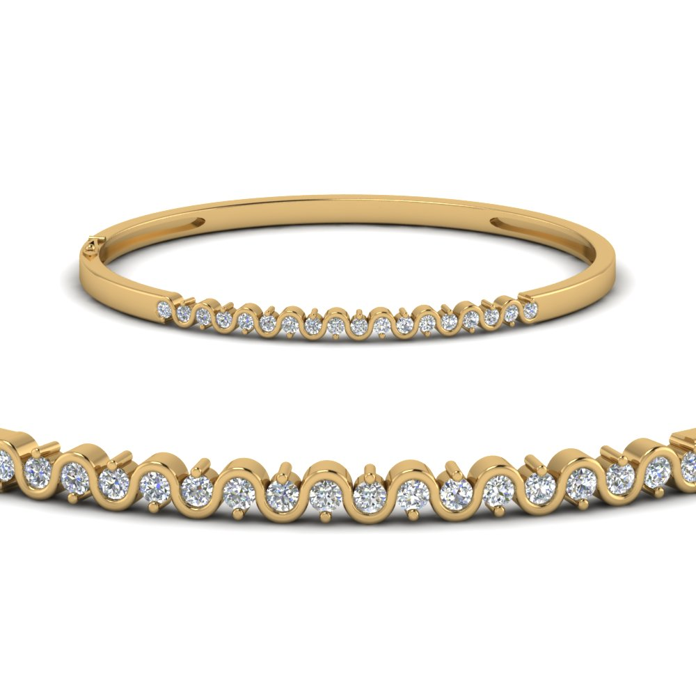 Zigzag Design Diamond Bracelet
