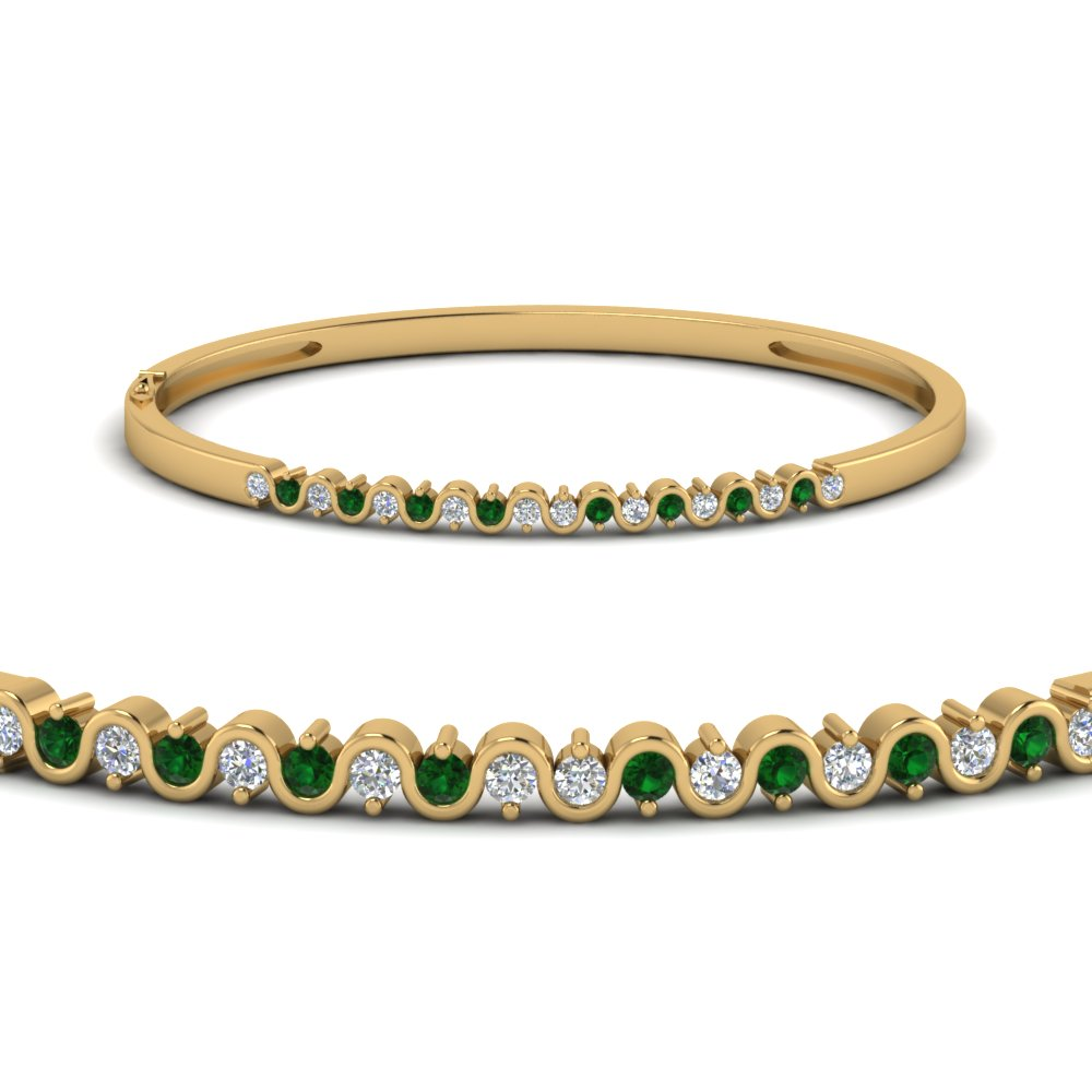 Emerald Round Diamond Bracelet