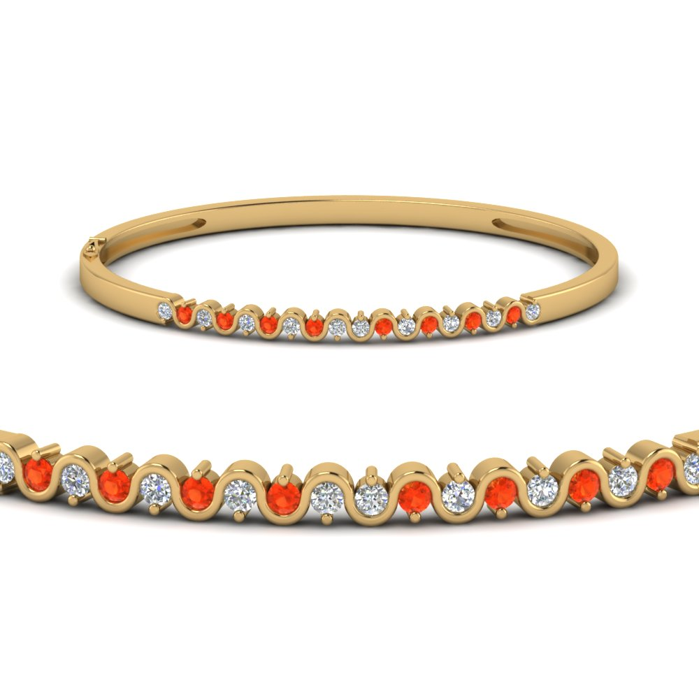 Orange Topaz Bracelet Bangle
