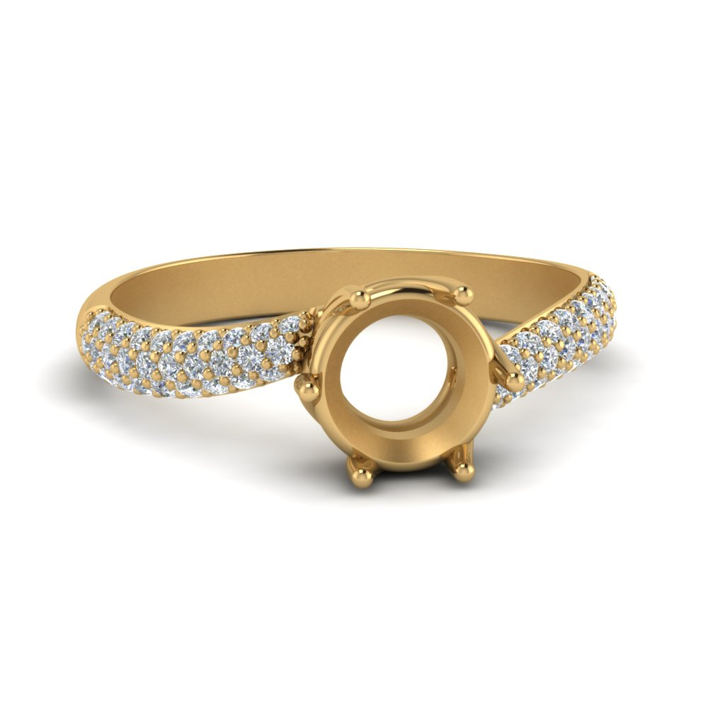 Swirl Micropave Diamond Ring Setting