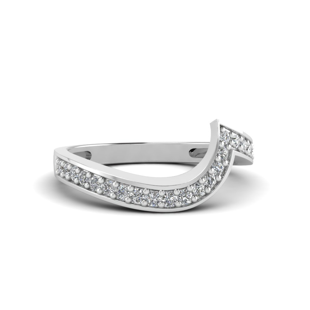 swirl pave diamond matching band in FDENS3006B NL WG
