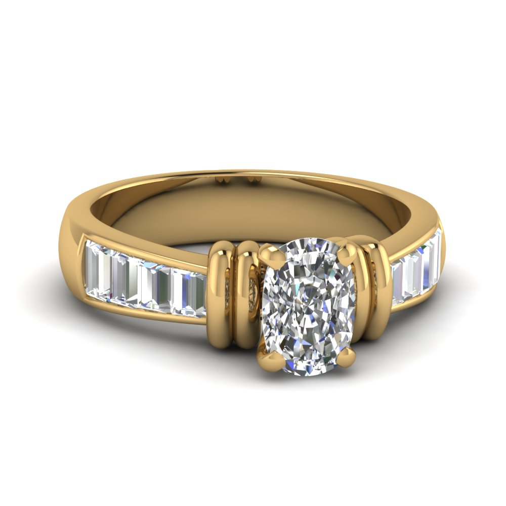 tapered 1.50 carat baguette cushion diamond engagement ring in FDENR1112CUR NL YG.jpg