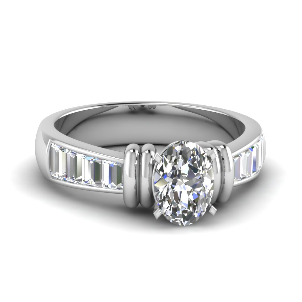 tapered 1.50 carat baguette oval diamond engagement ring in FDENR1112OVR NL WG.jpg