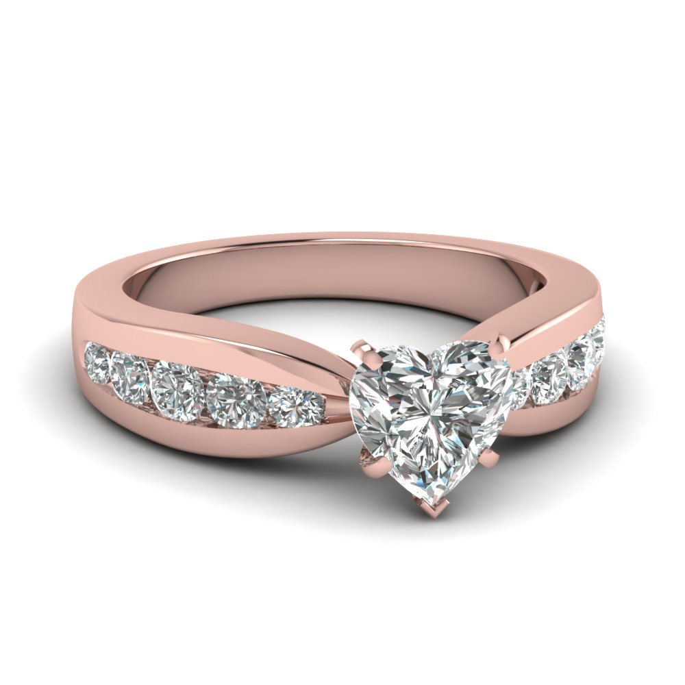 Bow Heart Diamond Ring