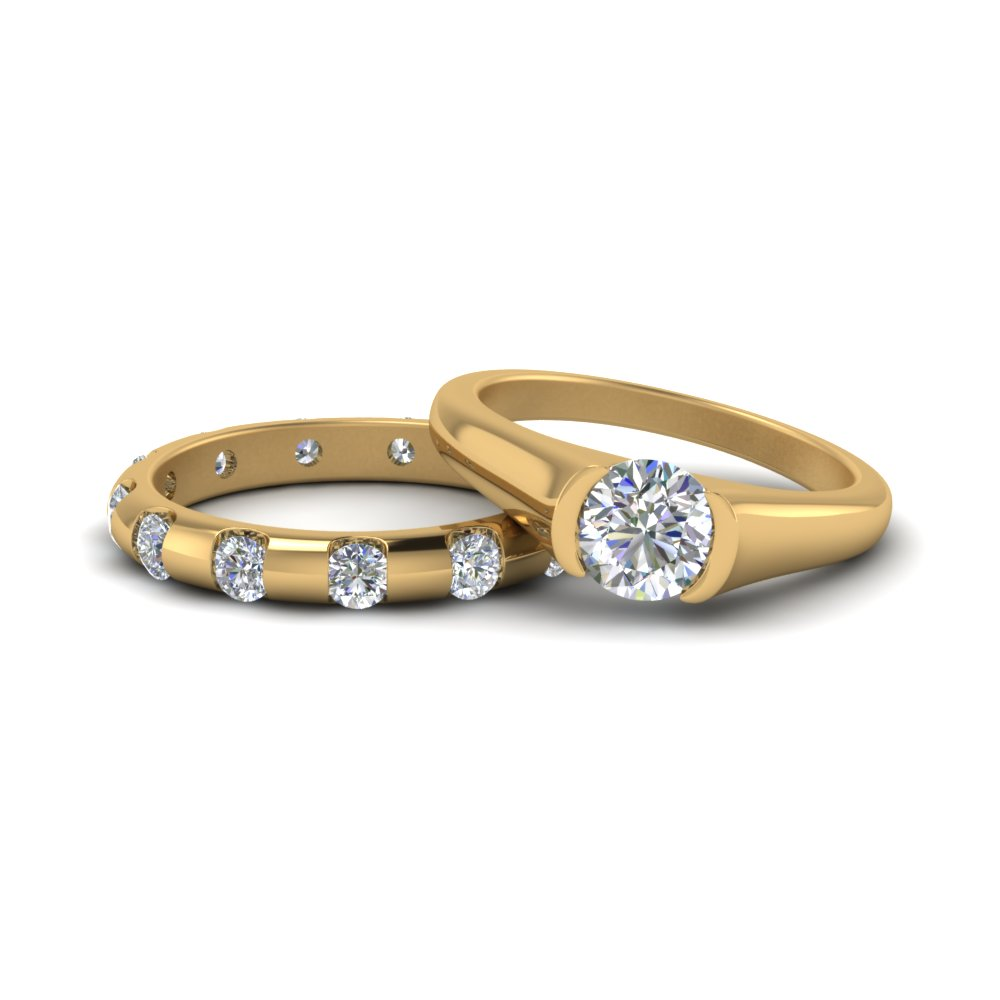 Solitaire Diamond Bridal Ring Set