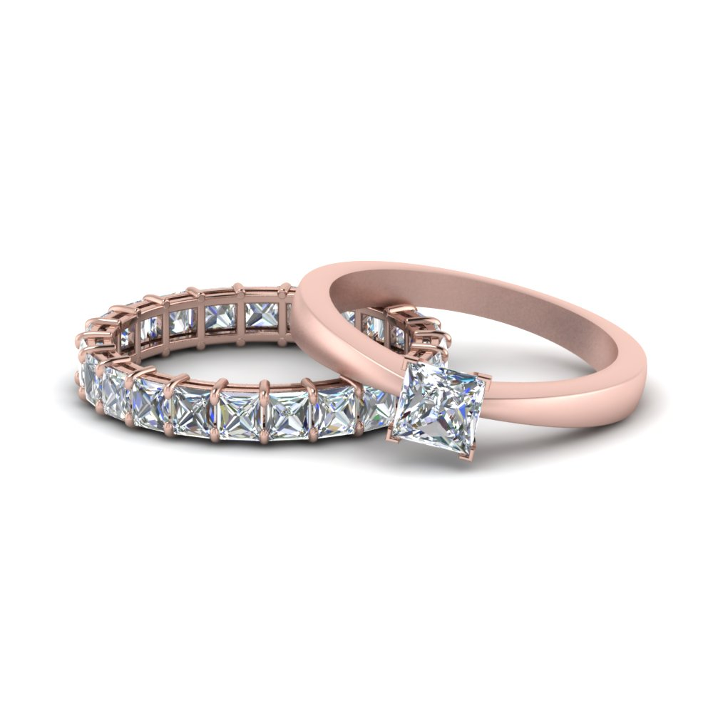 Princess Cut Eternity Set