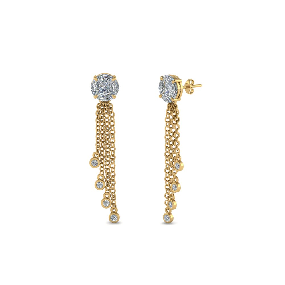 Tassel Diamond Dangle Earring