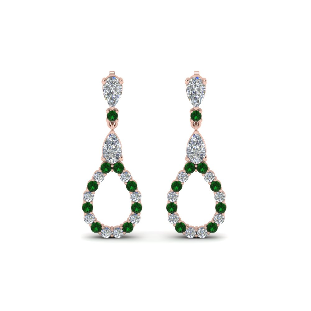 Teardrop Diamond Earring For Women