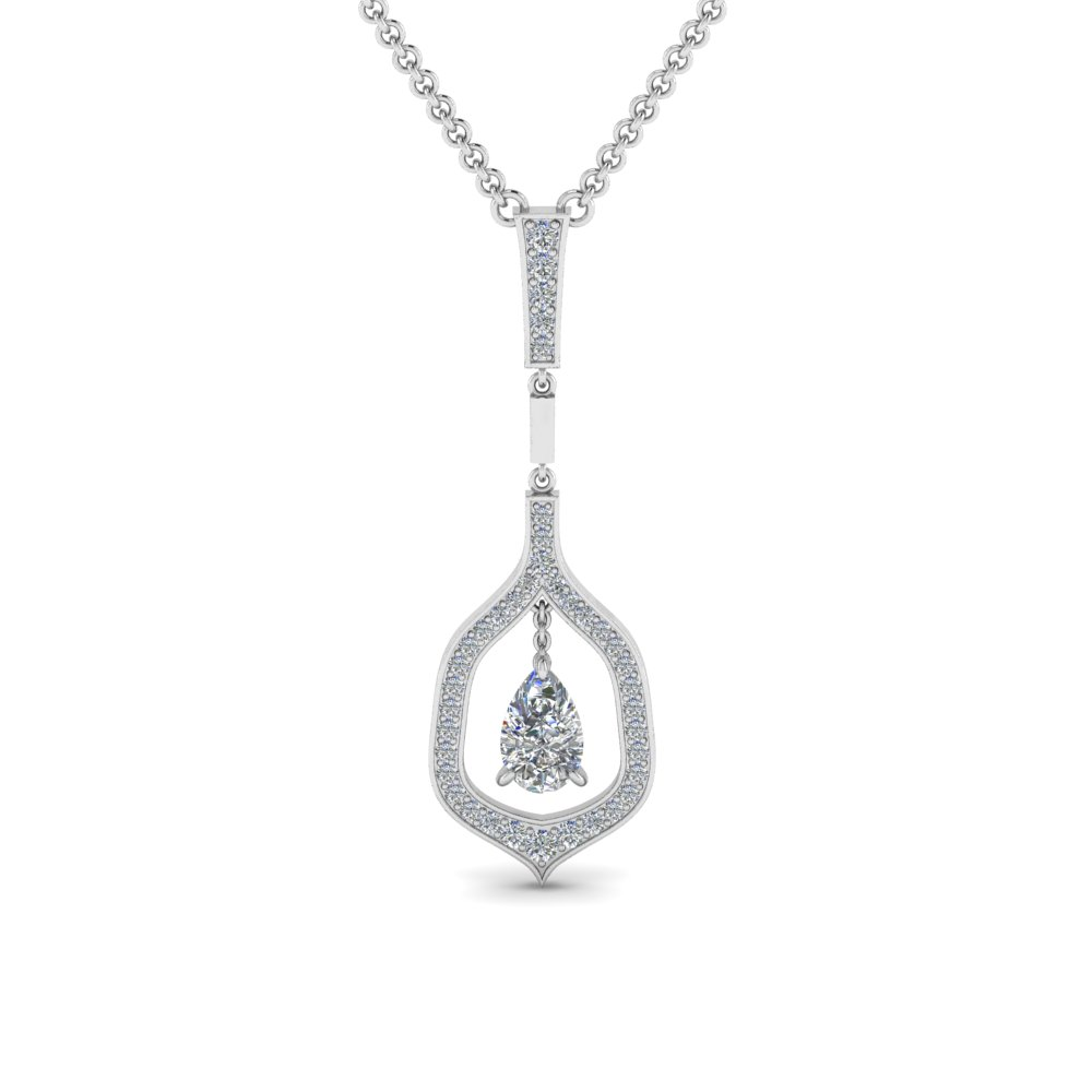 Teardrop Diamond Necklace Pendant