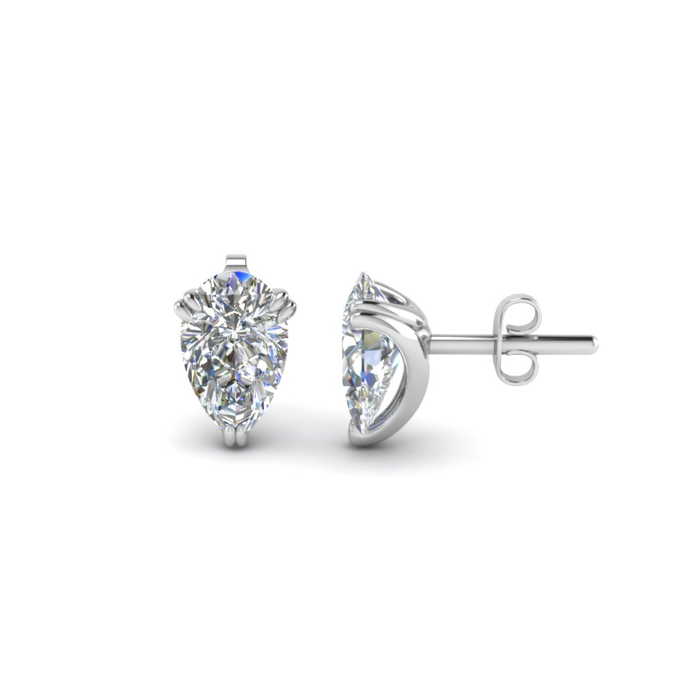 Teardrop Diamond Stud Earring