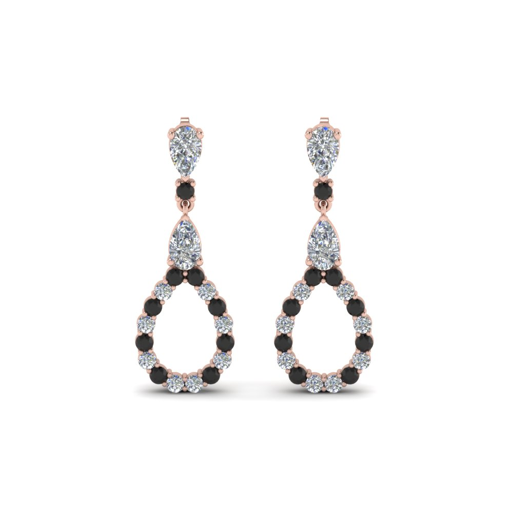 Black Diamond Earring For Women
