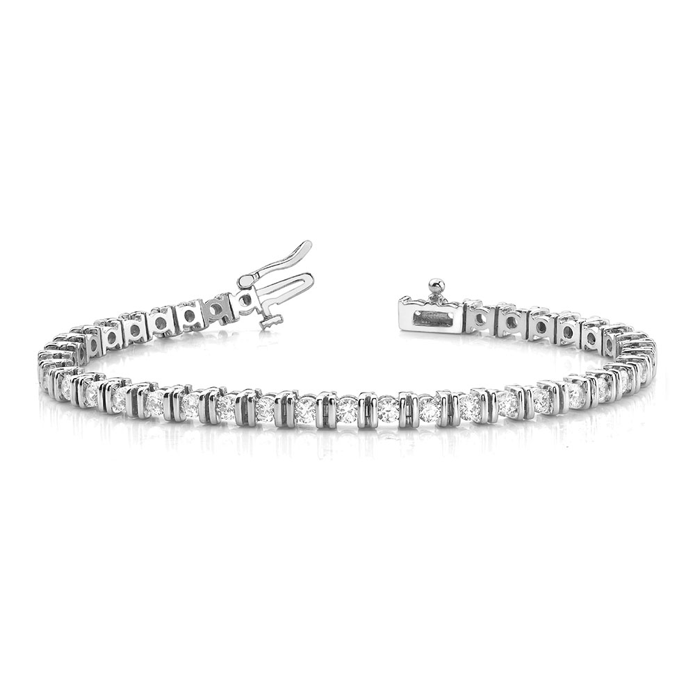 tennis bar diamond women bracelet in FDOBR70152 NL WG