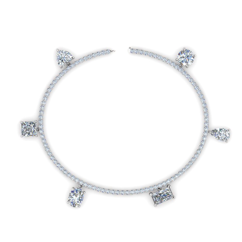 Diamond Tennis Charm Bracelet
