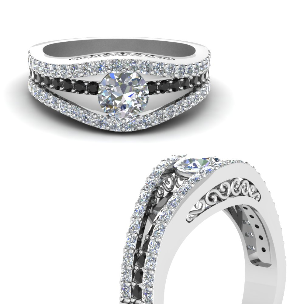 tension set crossover engagement ring with black diamond in FD1035RORGBLACKANGLE3 NL WG.jpg