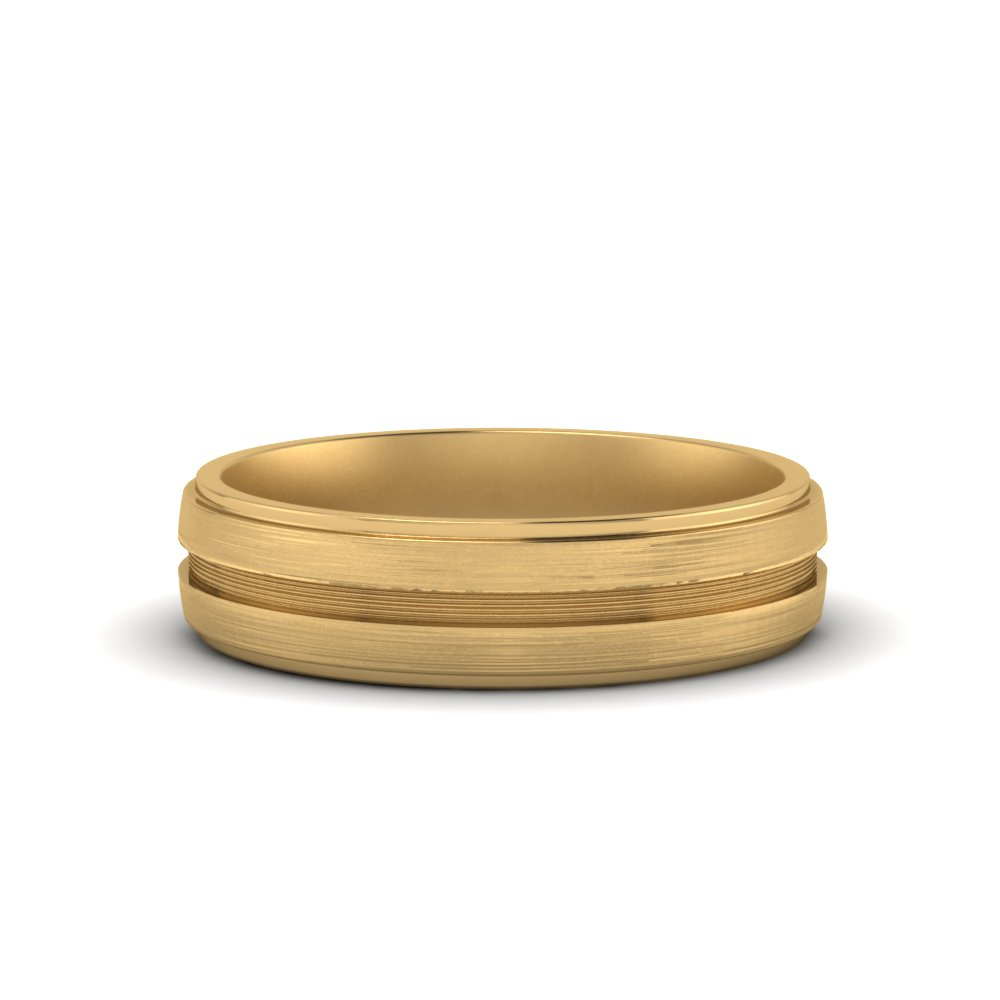 Gold Inlay Wedding Band