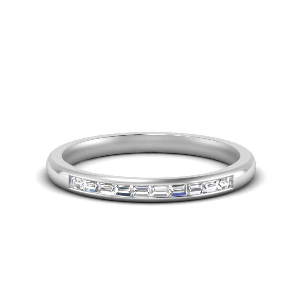 0.75 Ct. Baguette Thin Band