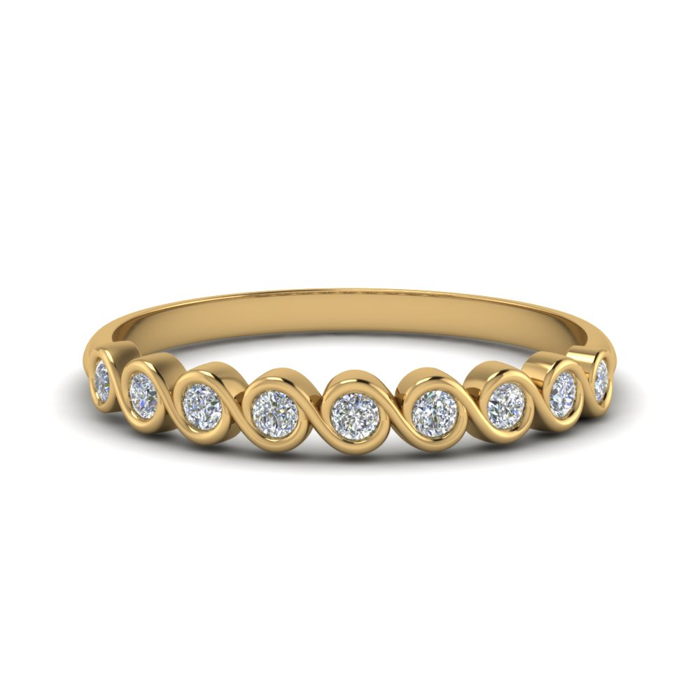 0.40 ct. thin bezel set round diamond anniversary band in 14K yellow gold FD123594RO(2.25MM) NL YG