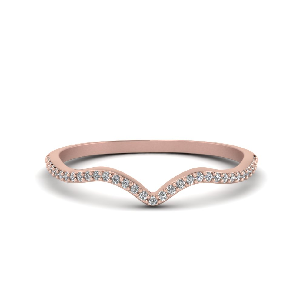 Thin Curved Diamond Band