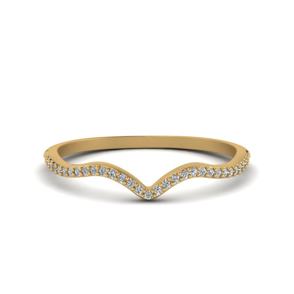thin curved diamond band in 14K yellow gold FD8300B NL YG