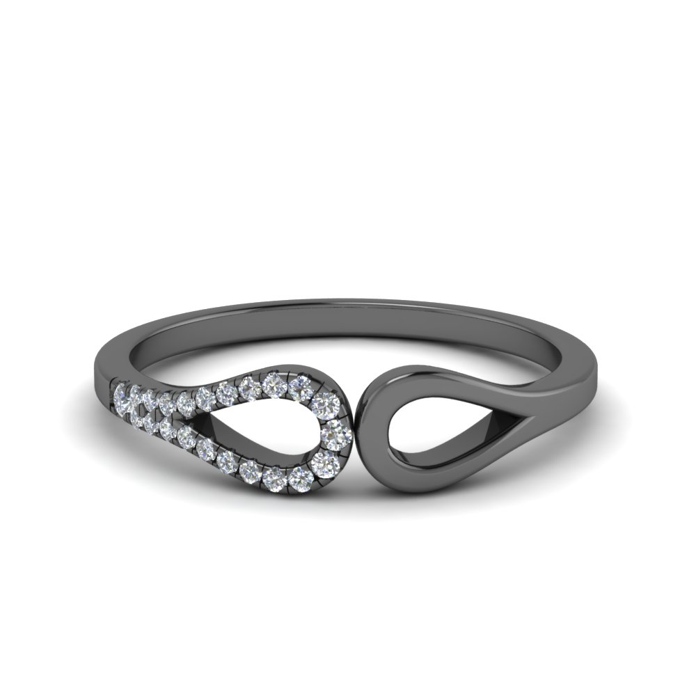 Thin Black Gold Loop Wedding Band