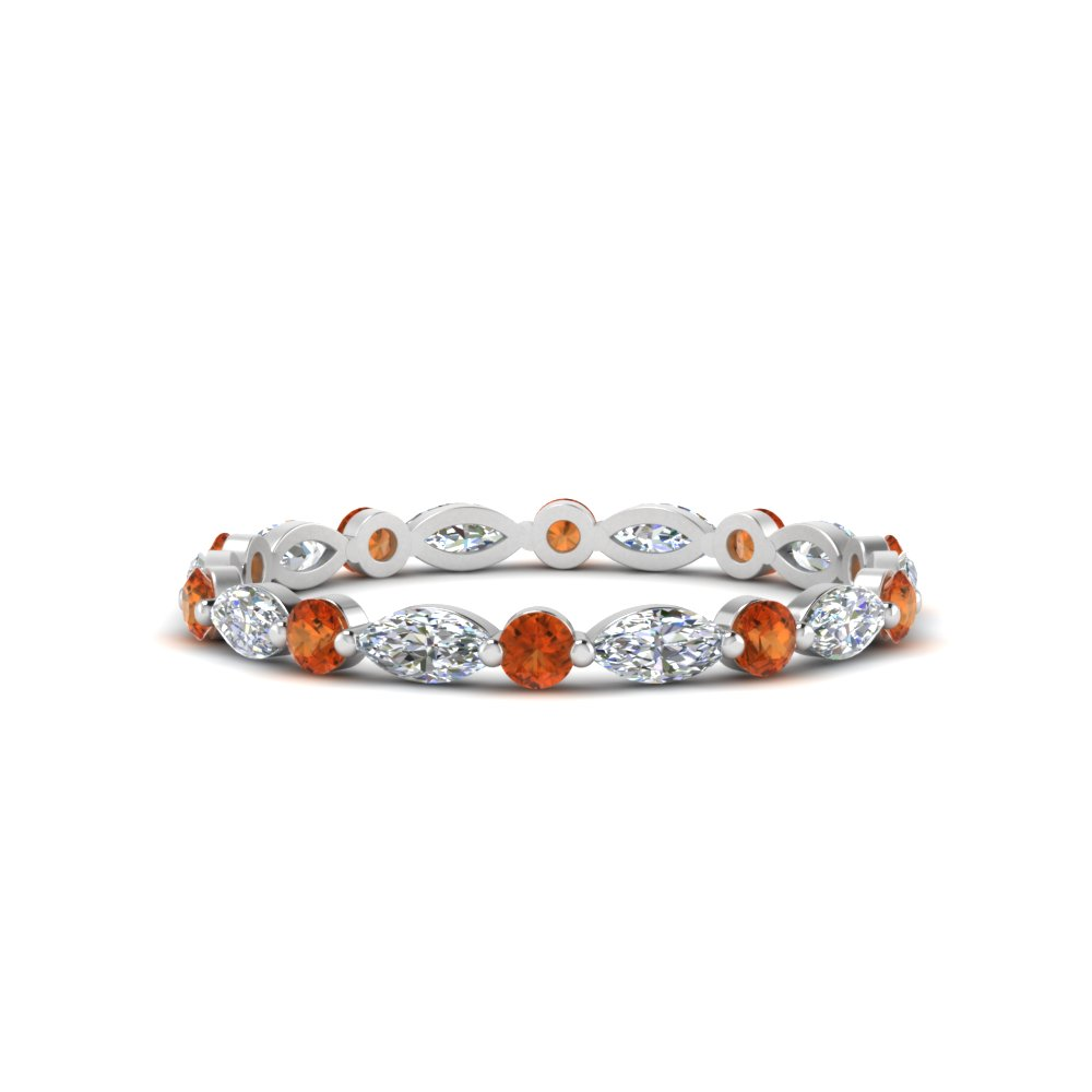 thin-marquise-and-round-eternity-wedding-band-with-orange-sapphire-in-FDEWB9403GSAOR-NL-WG
