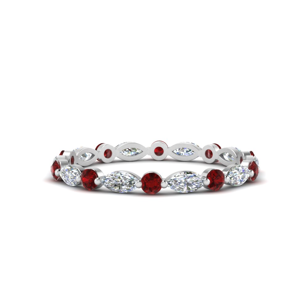 thin-marquise-and-round-eternity-wedding-band-with-ruby-in-FDEWB9403GRUDR-NL-WG