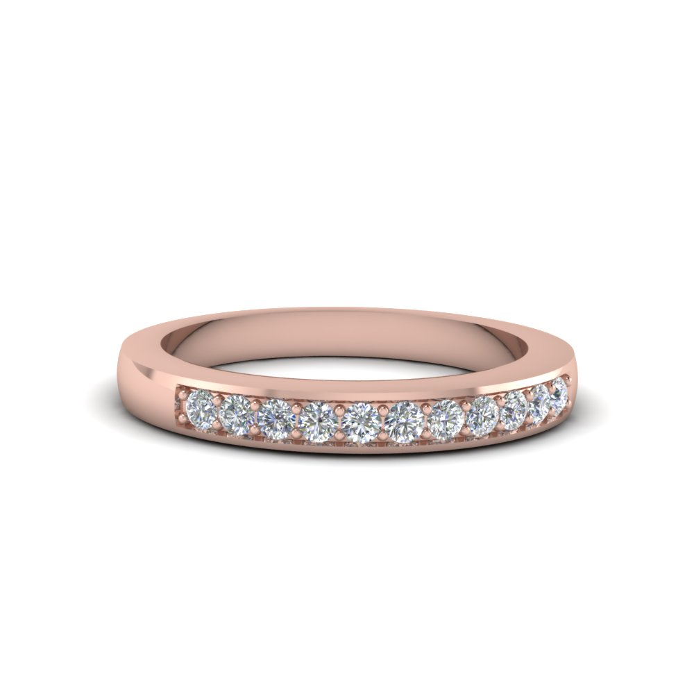 Thin Pave Diamond Wedding Band