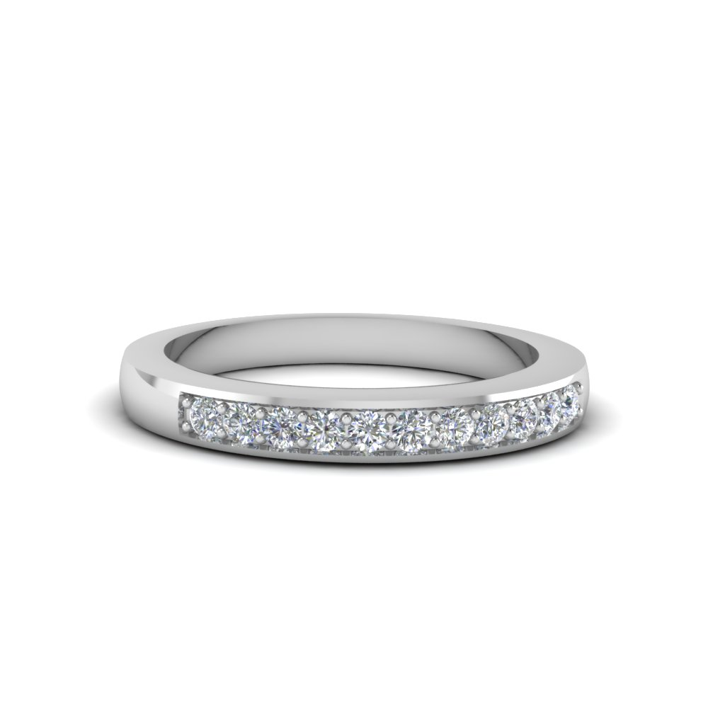 White Gold Cheap Wedding Band For Women