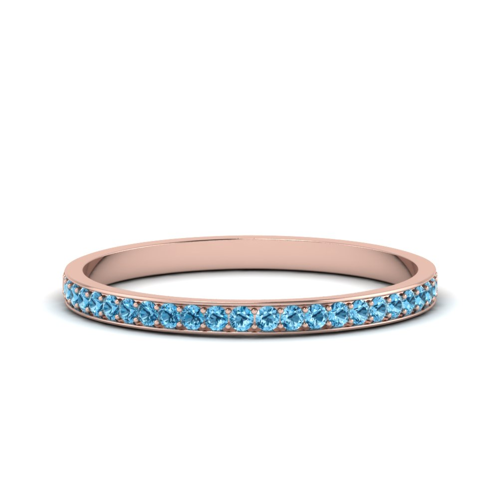 thin pave blue topaz wedding band in FDENS3195BGICBLTO NL RG GS