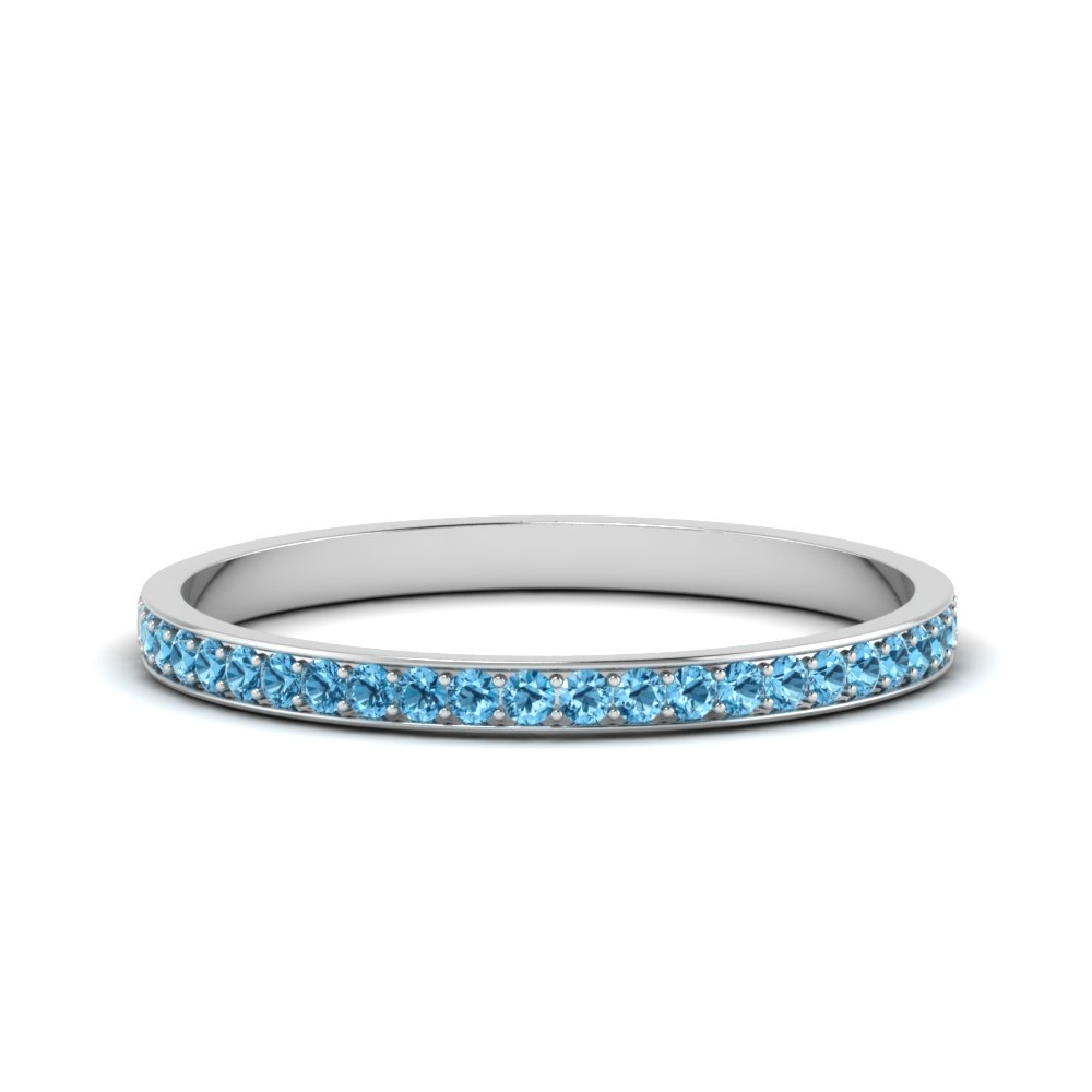 Platinum Topaz Wedding Band