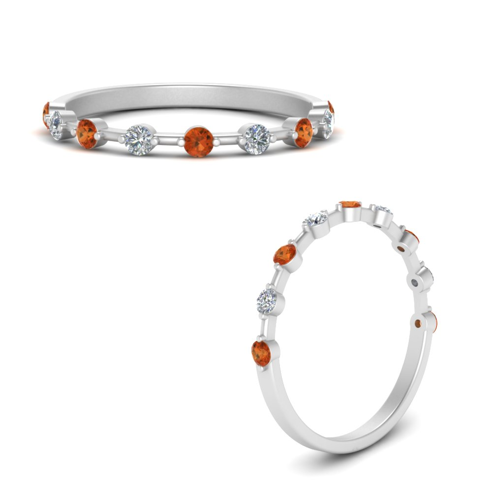 thin-spaced-out-diamond-wedding-band-with-orange-sapphire-in-FD9361BGSAORANGLE3-NL-WG