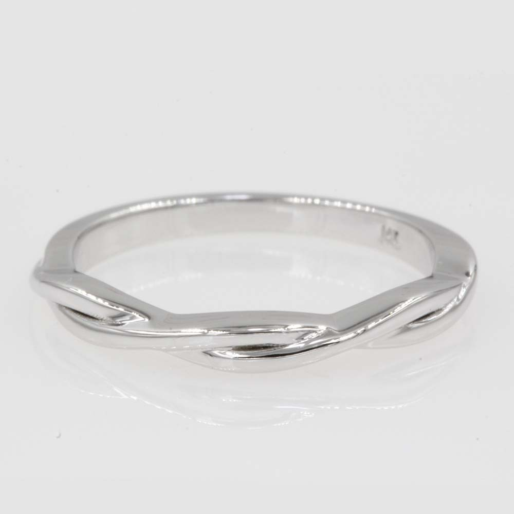 thin white gold twisted band FD8252B