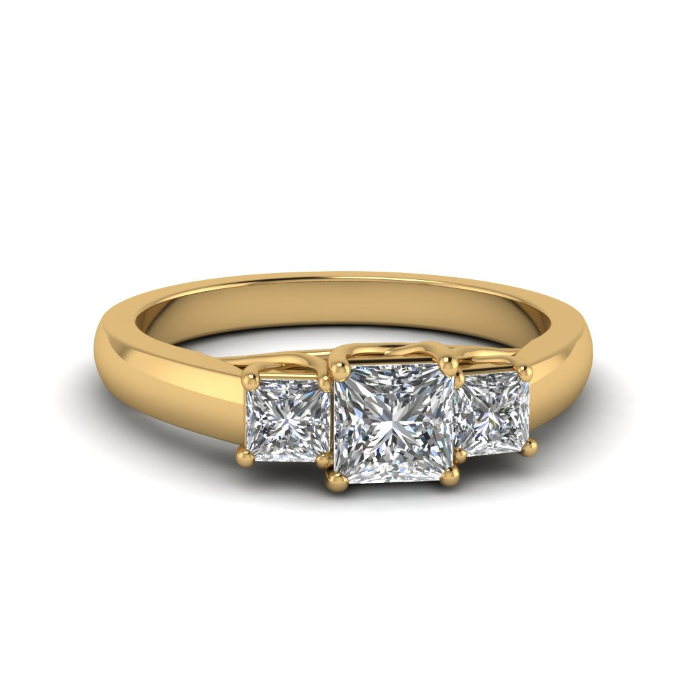 Princess Cut Trellis Engagement Ring