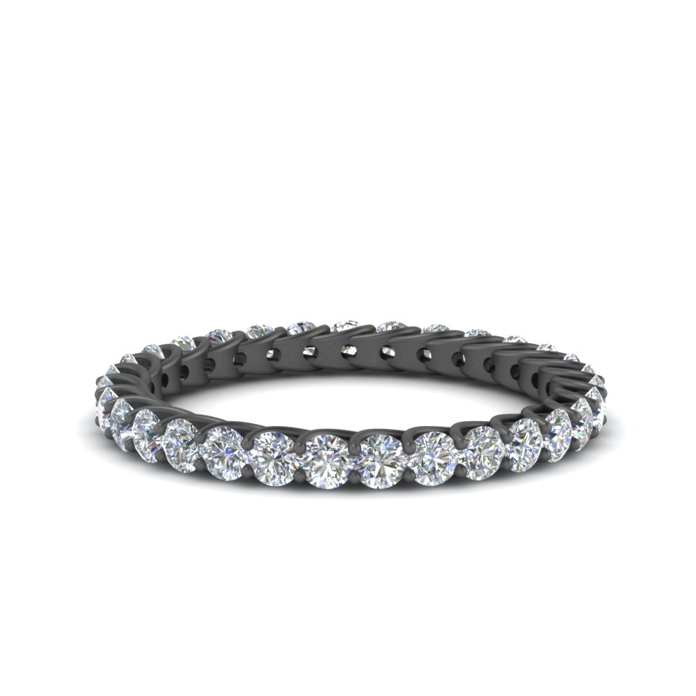 1 Ct. Diamond Black Gold Band