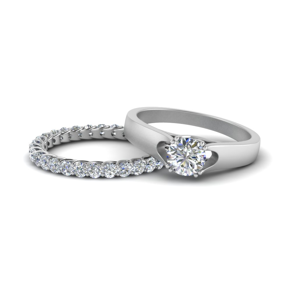 Trellis Wedding Ring Set