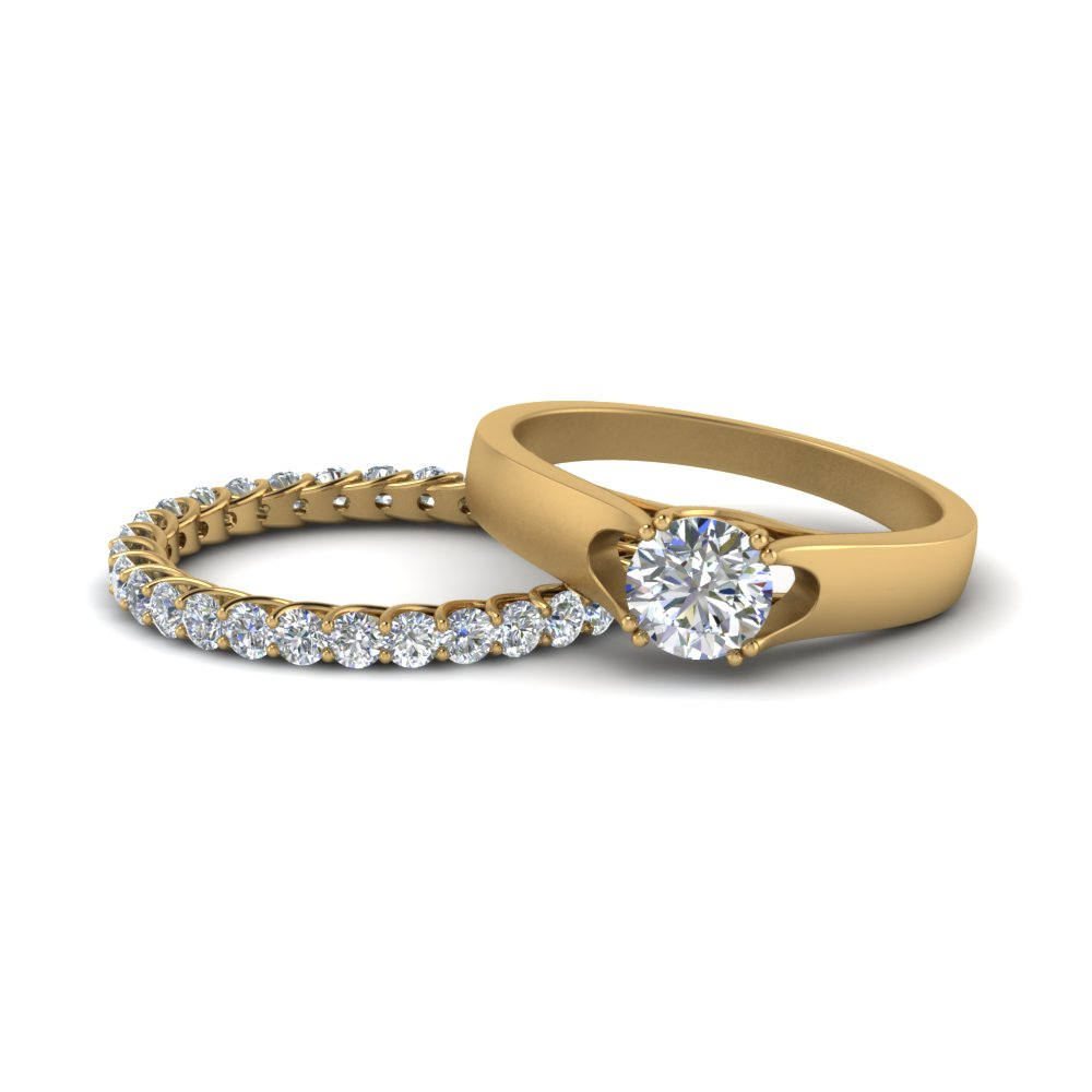 Trellis Diamond Wedding Ring Set