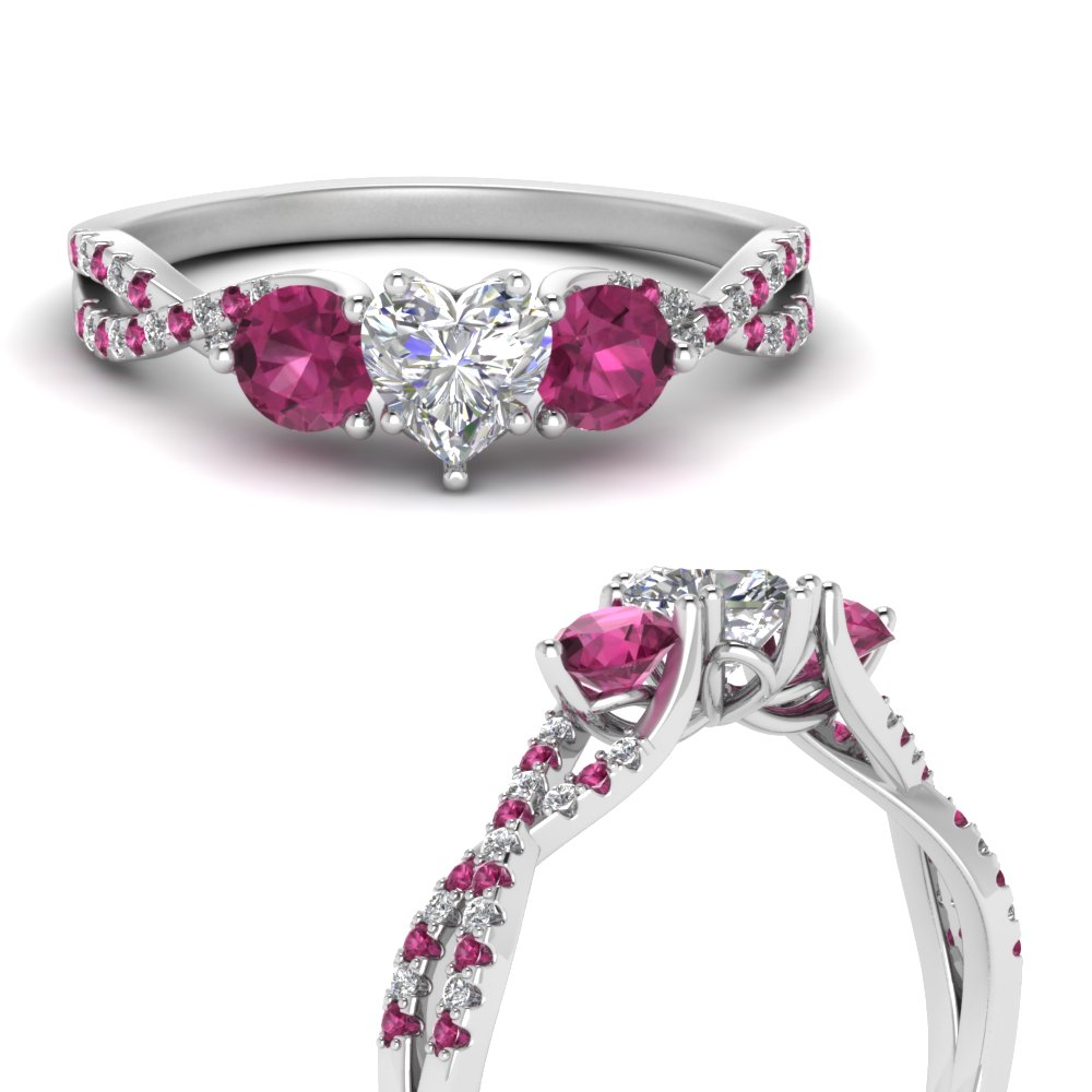 trellis-twisted-3-stone-heart-shaped-diamond-ring-with-pink-sapphire-in-14K-white-gold-FD123699HTRGSADRPIANGLE3-NL-WG