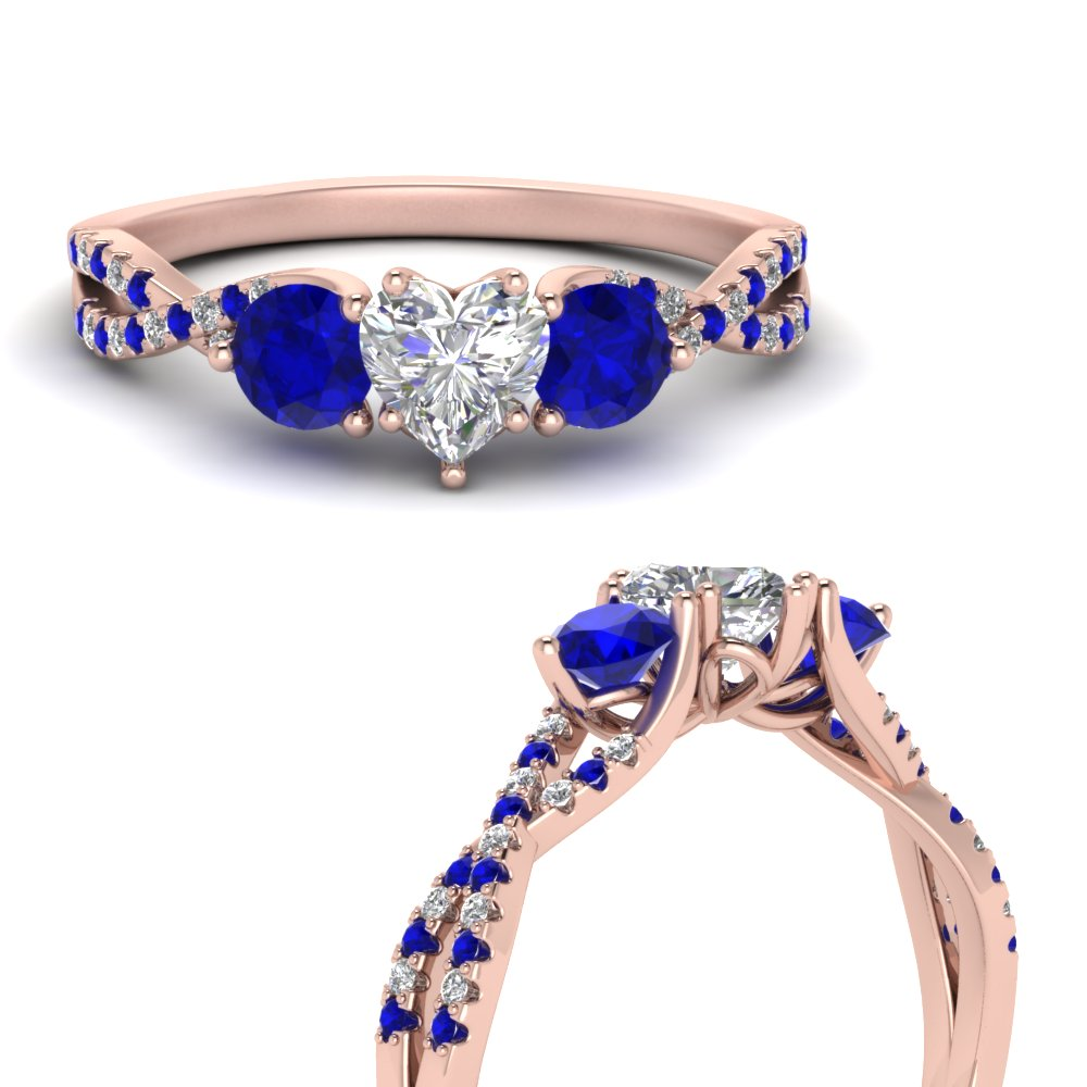 trellis-twisted-3-stone-heart-shaped-diamond-ring-with-sapphire-in-14K-rose-gold-FD123699HTRGSABLANGLE3-NL-RG