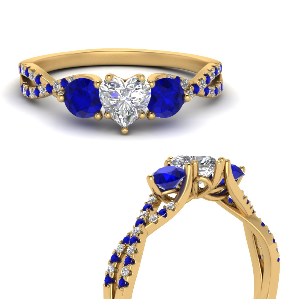trellis-twisted-3-stone-heart-shaped-diamond-ring-with-sapphire-in-18K-yellow-gold-FD123699HTRGSABLANGLE3-NL-YG