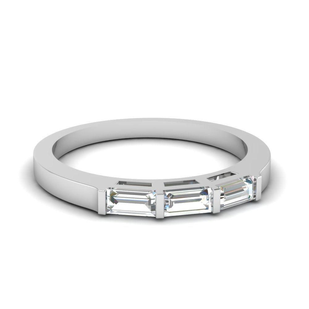 3 baguette wedding band in FDWB2464B NL WG