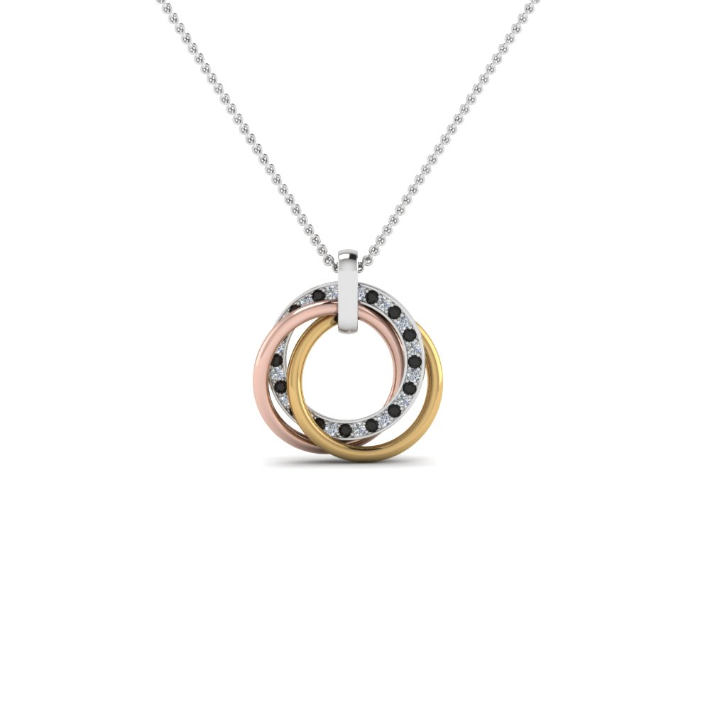 Tri Color Circle Necklace