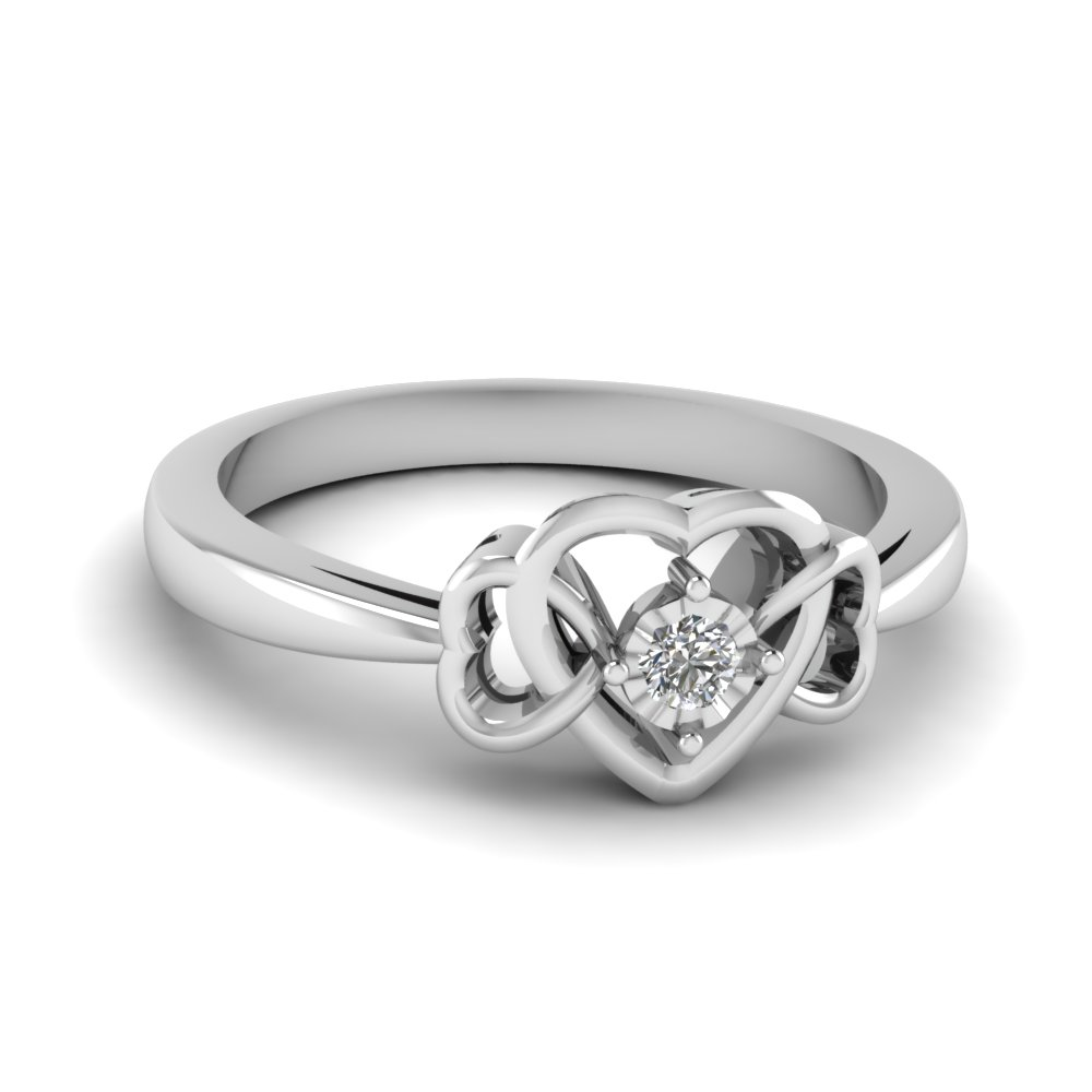 ring amour product la diamond rings products l rose white sterling silver engagement