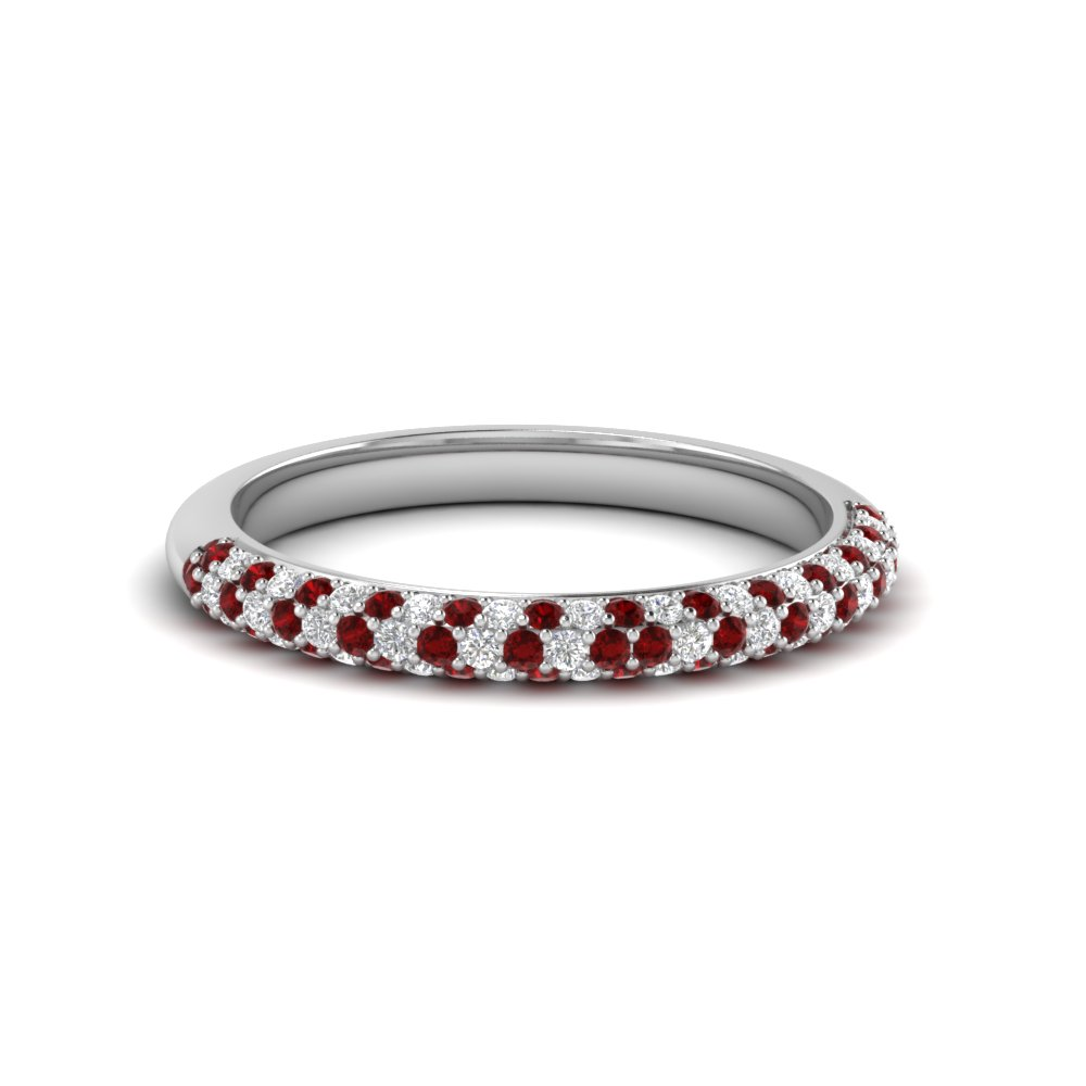 Ruby Wedding Bands For Her