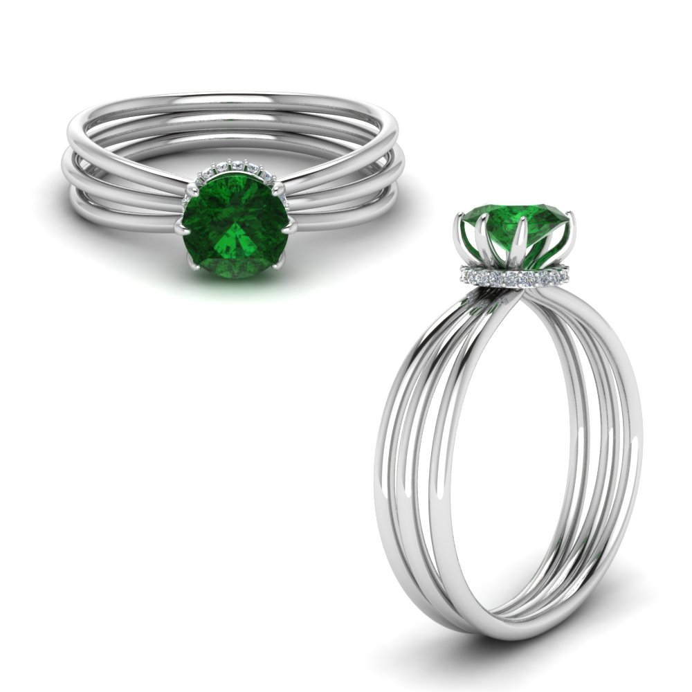emerald under halo split engagement ring in FD8634RORGEMANGLE1 NL WG.jpg