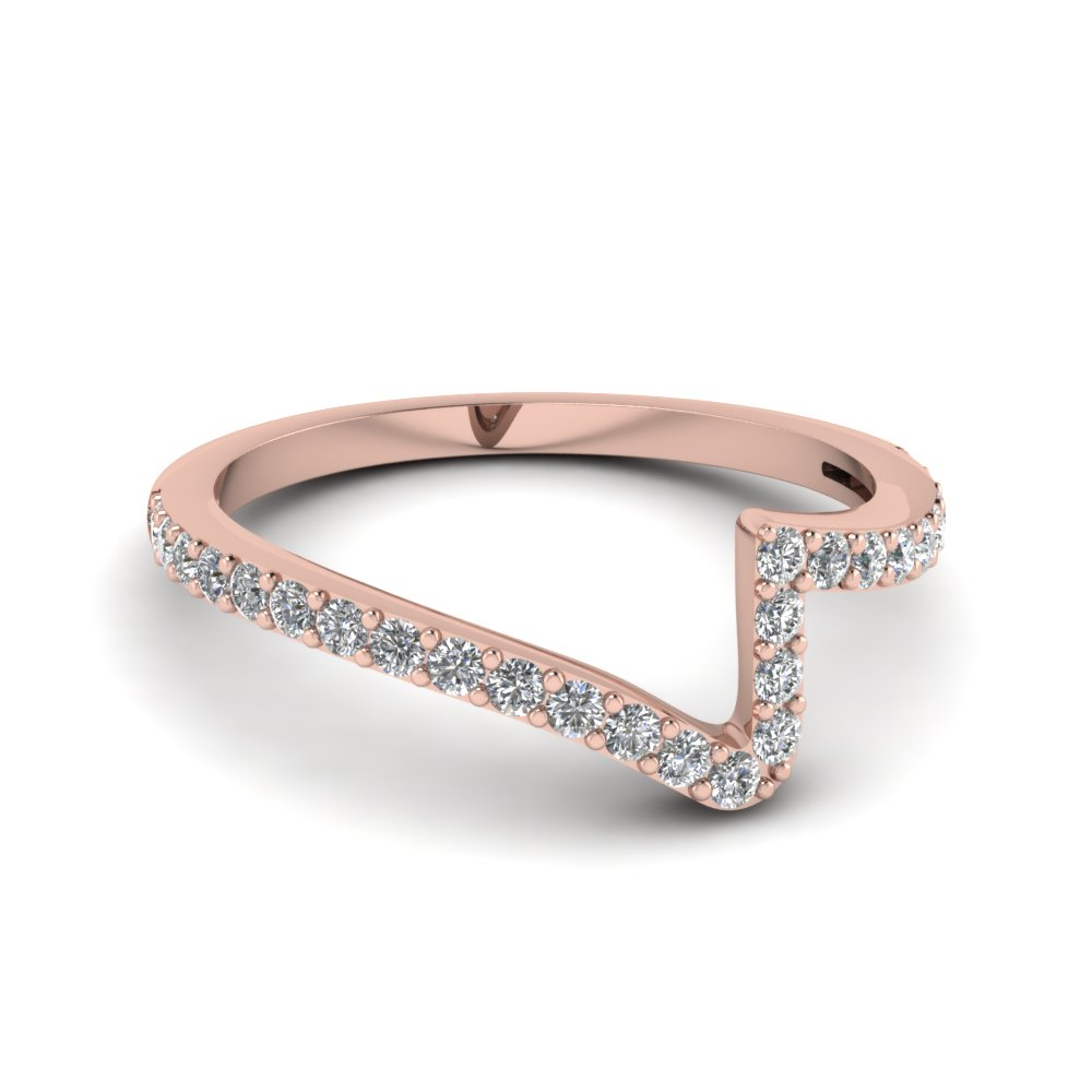 Pave Diamond Twist Wedding Band