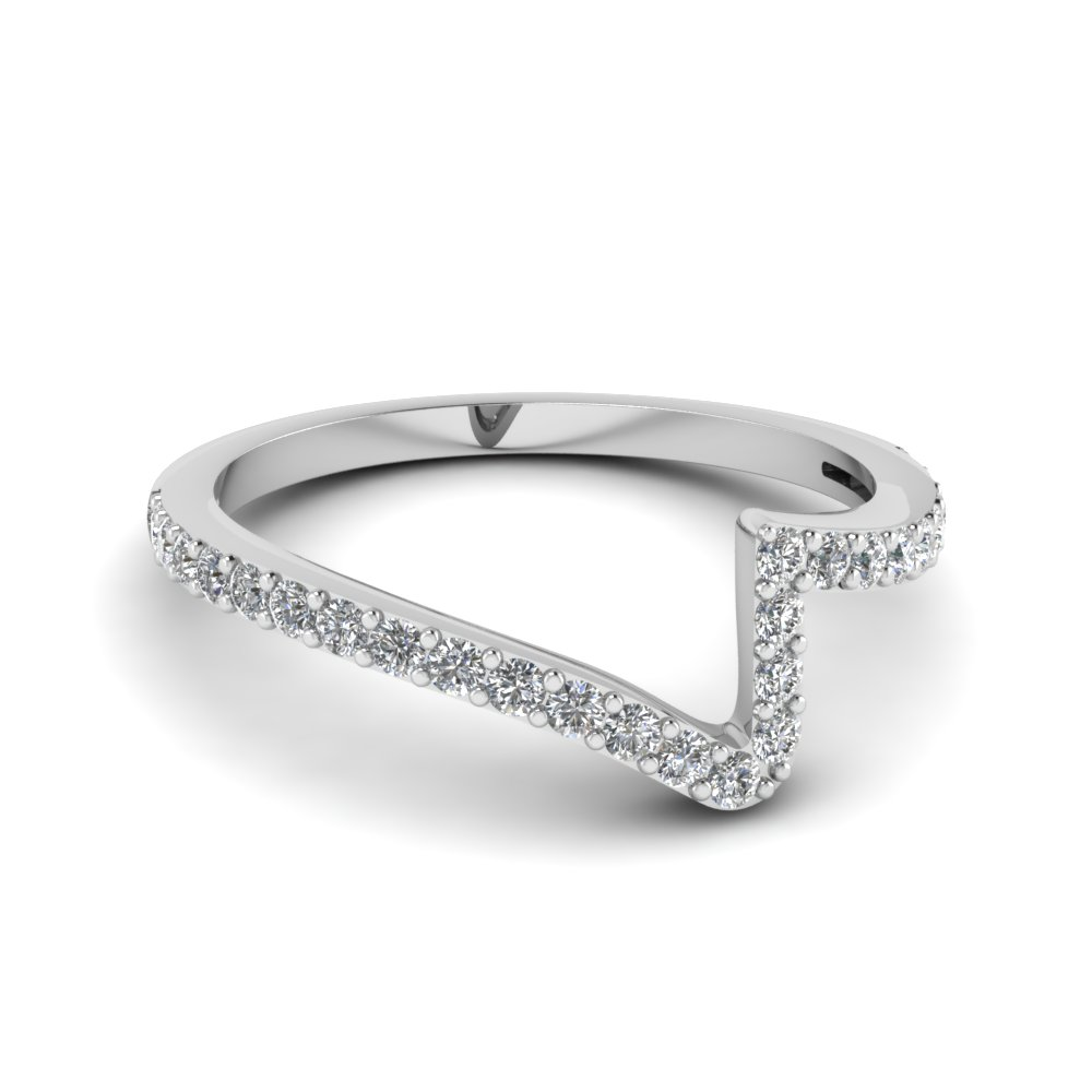Twist Diamond Wedding Anniversary Band