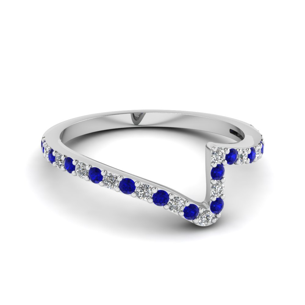 Twist Sapphire Wedding Band
