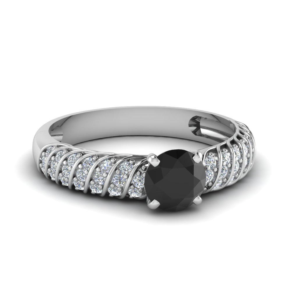 Black Diamond Twist Rope Ring